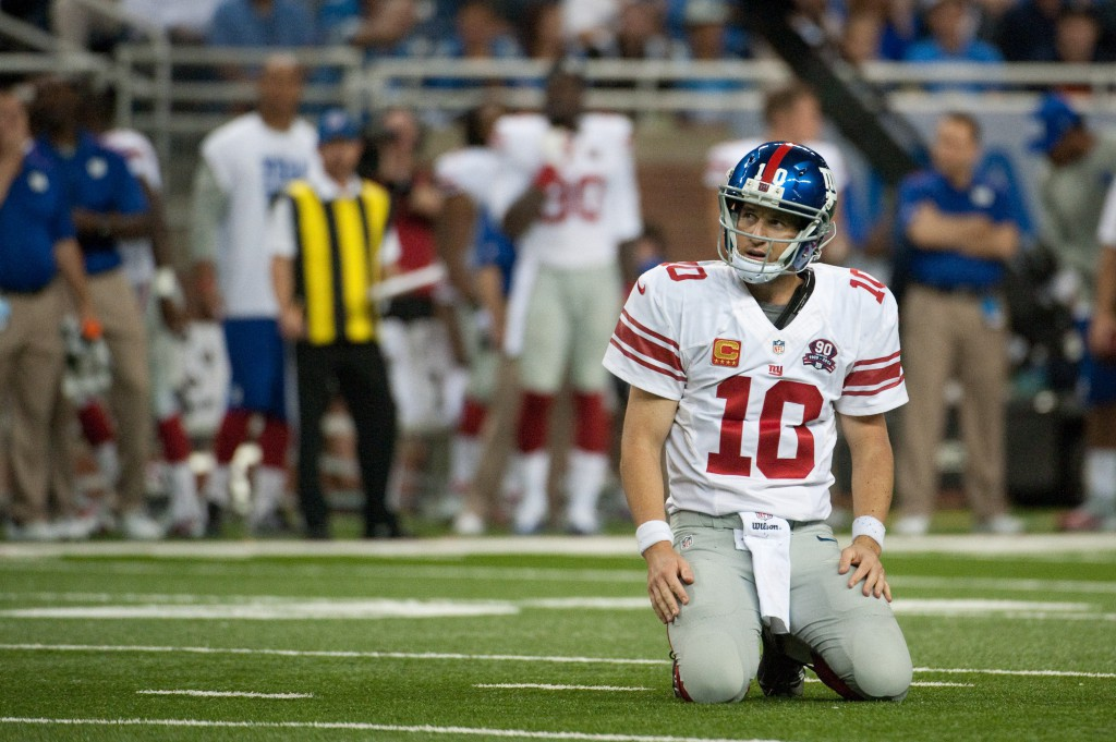 Eli Manning, New York Giants (September 8, 2014)