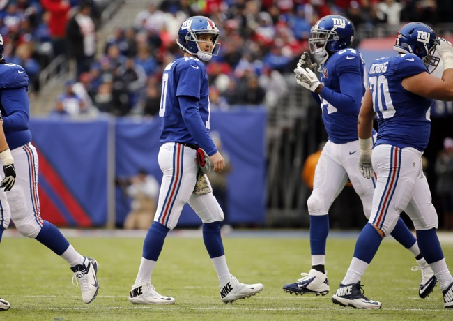Eli Manning, New York Giants (November 16, 2014)