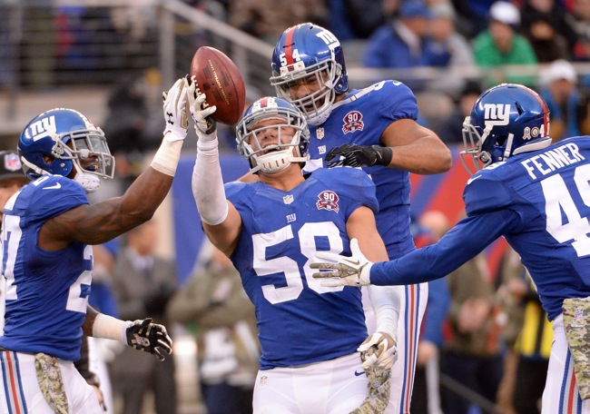 Mark Herzlich, New York Giants (November 16, 2014)