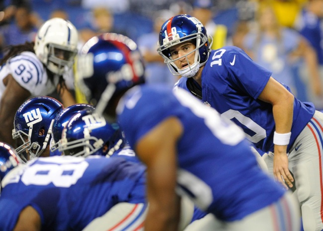 Eli Manning, New York Giants (August 16, 2014)