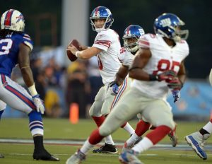 Eli Manning, New York Giants (August 3, 2014)