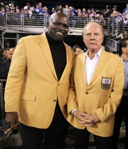 Frank Gifford and Lawrence Taylor, New York Giants (November 3, 2014)