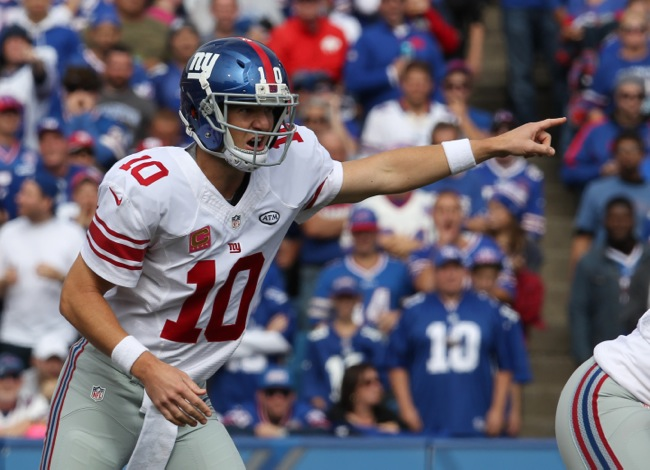 Eli Manning, New York Giants (October 4, 2015)