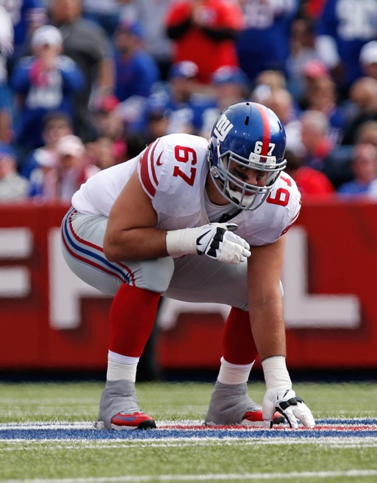 Justin Pugh, New York Giants (October 4, 2015)