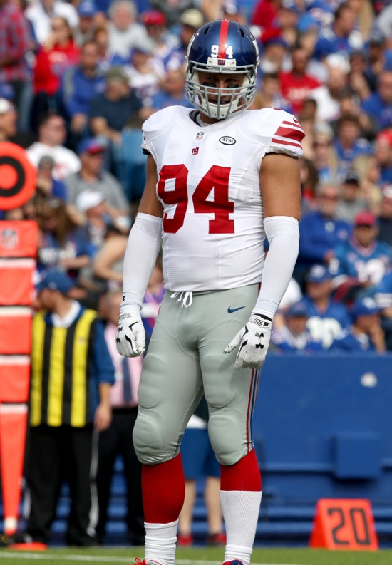 Mark Herzlich, New York Giants (October 4, 2015)