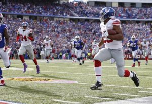 Rashad Jennings, New York Giants (October 4, 2015)