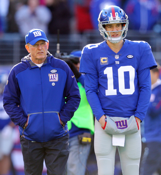 Tom Coughlin and Eli Manning, New York Giants (January 3, 2016)