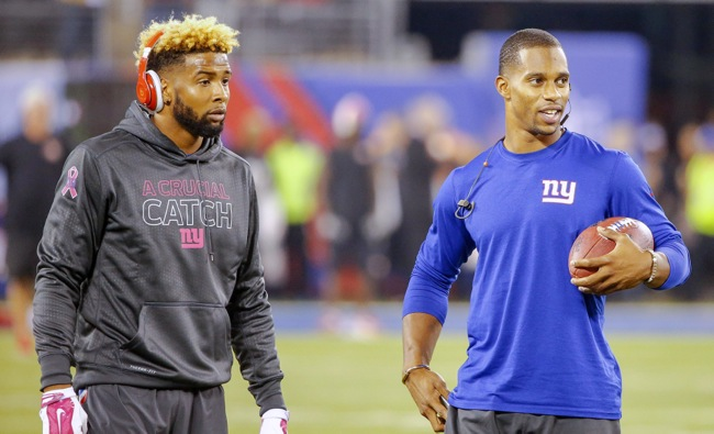 Odell Beckham and Victor Cruz, New York Giants (October 11, 2015)