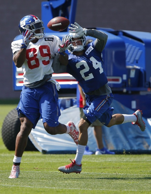 Jerome Cunningham and Bennett Jackson, New York Giants (July 31, 2015)