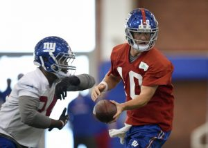 Shane Vereen and Eli Manning, New York Giants (June 16, 2015)