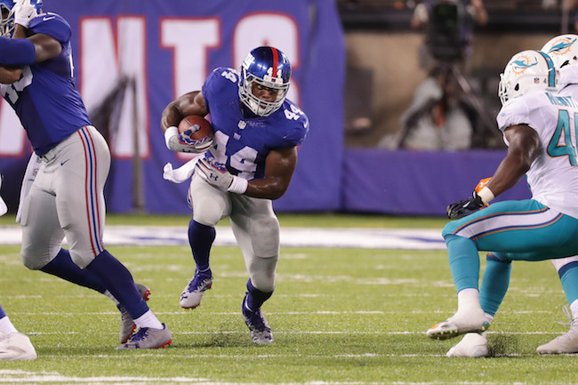Andre Williams, New York Giants (August 12 2016)