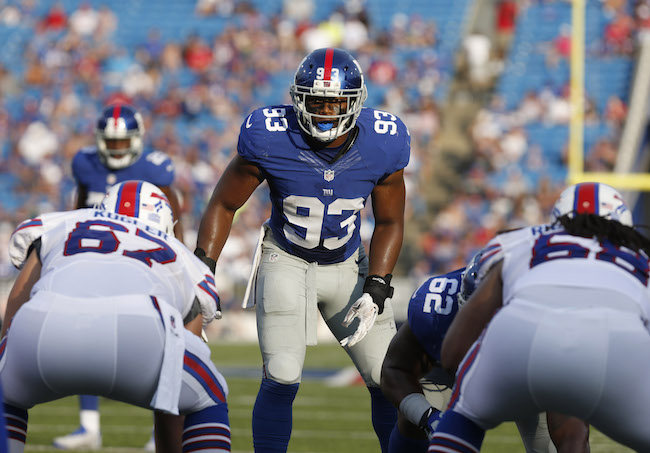 B.J. Goodson, New York Giants (August 20, 2016)
