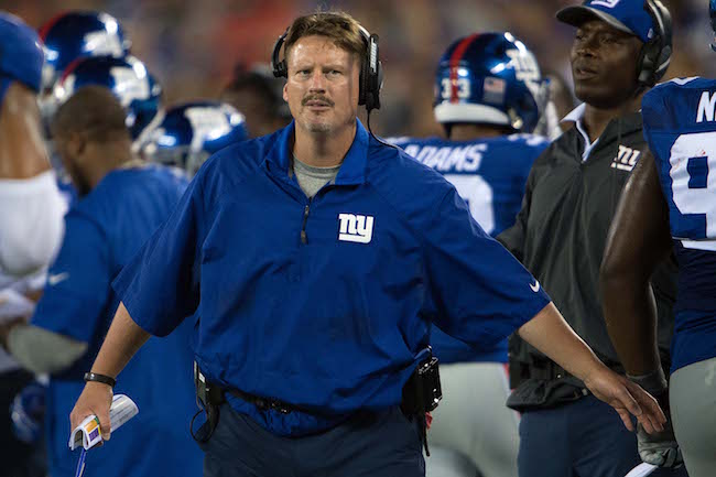 Ben McAdoo, New York Giants (September 1, 2016)