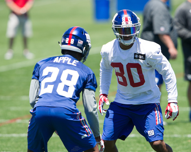 Eli Apple and Victor Cruz, New York Giants (June 15, 2016)