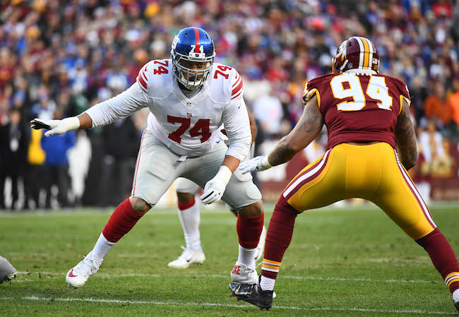 Ereck Flowers, New York Giants (January 1, 2017)