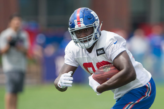 Jerell Adams, New York Giants (July 30, 2016)