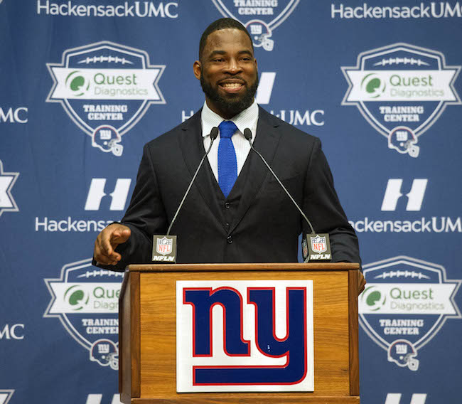 Justin Tuck, New York Giants (May 6, 2016)