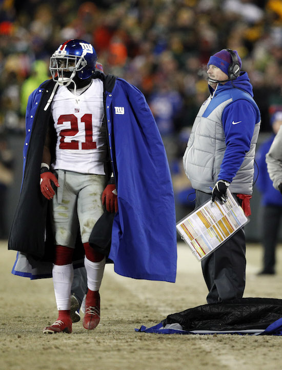 Landon Collins and Ben McAdoo, New York Giants (January 8, 2017)