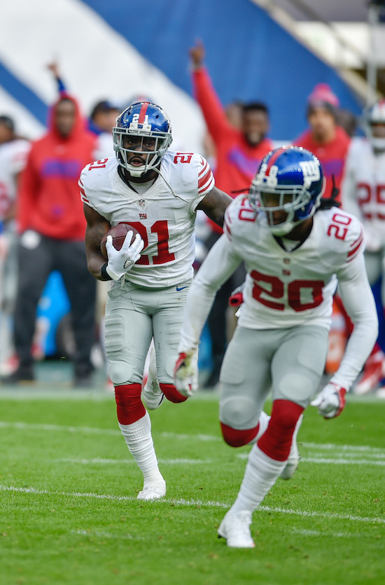 Landon Collins and Janoris Jenkins, New York Giants (October 23, 2016)