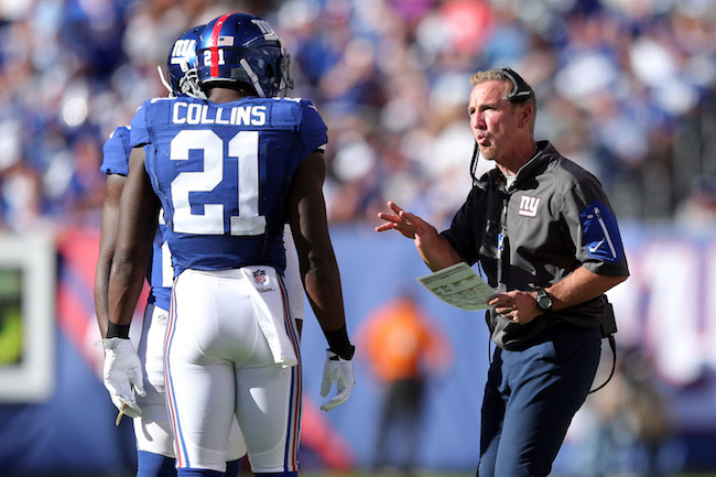 Landon Collins and Steve Spagnuolo, New York Giants (September 25, 2016)