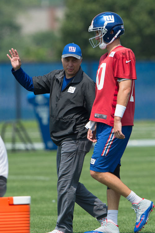 Mike Sullivan and Eli Manning, New York Giants (July 30, 2016)