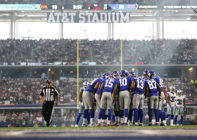 New York Giants Offense (September 11, 2016)