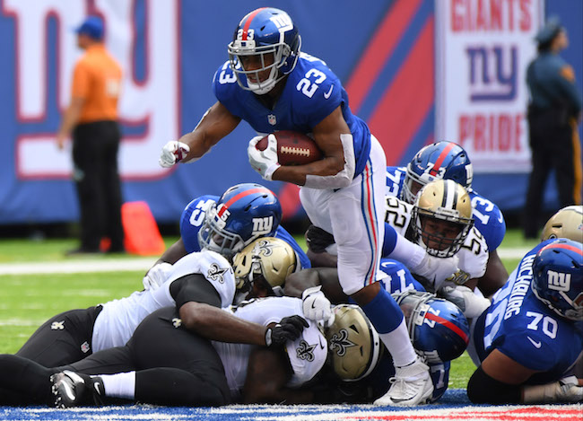 Rashad Jennings, New York Giants (September 18, 2016)
