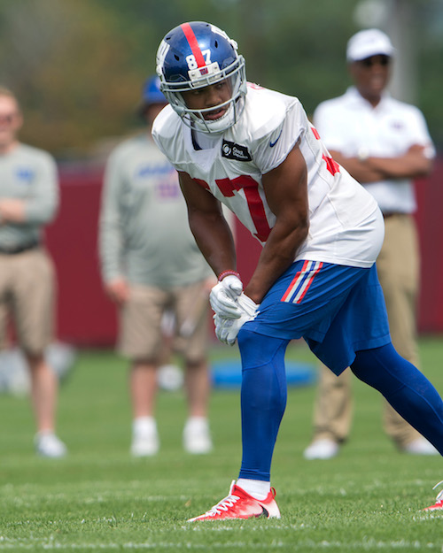 Sterling Shepard, New York Giants (July 30, 2016)