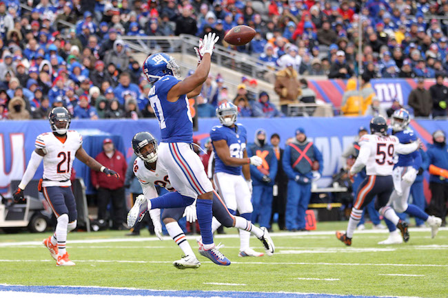 Sterling Shepard, New York Giants (November 20, 2016)