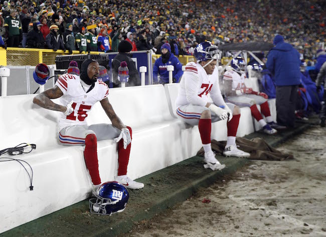Tavarres King and Ereck Flowers, New York Giants (January 8, 2017)