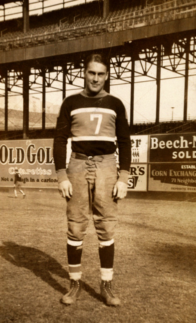 New York Giants Center/Linebacker Mel Hein in 1933 - Photo Courtesy of Rev. Mike Moran